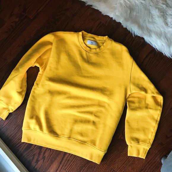 TNA Aritzia Perfect Crew Sweatshirt Yellow